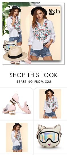 """Blouse"" by ilona-828 ❤ liked on Polyvore featuring Jeffrey Campbell, Karl Lagerfeld, Roxy, polyvoreeditorial, shein and ILONA"