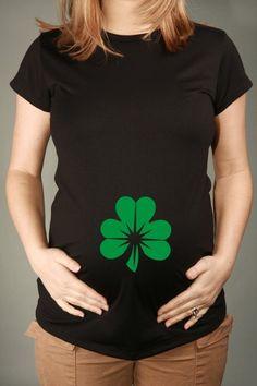 SHAMROCK, Womens Black Short-Sleeved Maternity T-shirt
