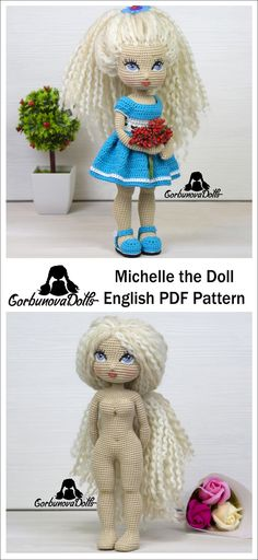This Crochet Doll Pattern is an easy-to-follow amigurumi tutorial, consisting of 34 PDF pages.
