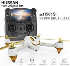 Quadcopter Hubsan H501S X4 Pro Brushless With 1080P HD Camera GPS Mode Switch Remote Control Drone With Camera //Price: $328.82 & FREE Shipping //     #hashtag4