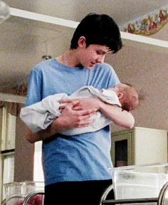 ahhh so cute   *fangirling do hard rn*   So do you realize the look of adoration on his face for that little baby?!?!