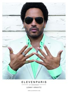 ELEVEN PARIS 10 Years of Fashion, 10 Kravitz Albums–French label Eleven Paris celebrates their tenth year anniversary with their new spring/summer 2013 campaign featuring musician and actor Lenny Kravitz. Joined by Charlotte Free, Kravitz is photographed by Renaud Corlouer.
