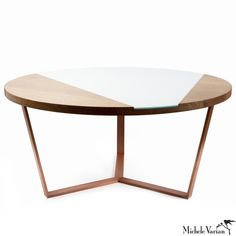 Brass framed, marble top coffee table. Delicate legs with disk detail. Also available as a side table, console table, and occasional table. 18 inches x 25 inches x 47 inches. *Local delivery within NY