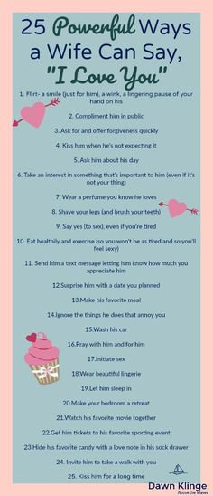 """25 Powerful Ways A Wife Can Say, """"I Love You"""""""