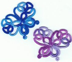 Butterfly Doodles design by Sarah Wood. #tat #tatting  {jrs: This would make a pretty bookmark, with a long tail!  ♥}