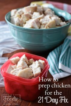 How To Prep Chicken for the 21 Day Fix - Freezing and thawing instructions included, along with some other helpful links!