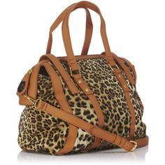 Derry Doctor Bag found on Polyvore featuring polyvore, women's fashion, bags, handbags, women, animal print handbag, pattern purse, zipper purse, animal handbags and zip purse