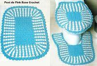 PINK ROSE CROCHET /: Tapetes de Crochê para Banheiro
