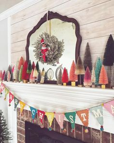 No automatic alt text available. Christmas Mantels, Winter Christmas, Vintage Christmas, Christmas Stockings, Christmas Crafts, Merry Christmas, Christmas Decorations, Xmas, Christmas Ideas