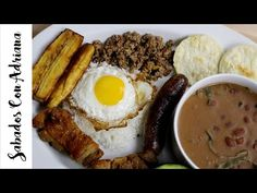 Bandeja Paisa - Sabados Con Adriana - YouTube My Colombian Recipes, Colombian Cuisine, French Toast, Pork, Breakfast, Youtube, Ideas Para, Stuffed Chicken, One Pot Dinners