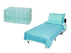 2 in 1! This ottoman can be rolled from room to room and opened to become a twin bed--perfect for guests // #hgtvmagazine http://www.hgtv.com/shows/ellens-design-challenge/ellens-design-challenge-winner-on-space-saving-ideas-pictures?soc=pinterest
