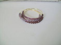 Mauve/purple bangle set $25