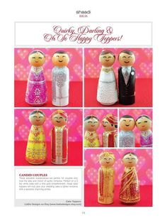 Multicultural Cake toppers - wedding cakes