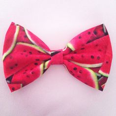 Watermelon hair bow on Etsy, $6.51