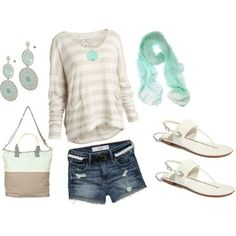 I think the long sleeve shirt with shorts is different yet cute! I like it!