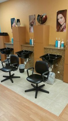 Finished remodeling the shampoo area in our ellenton salon. #remodel #salon #newlook