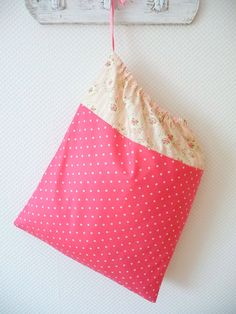 Shabby Chic Laundry Bag Lingerie Bag Sweet Rose by PeriDotbyDuni, $25.00