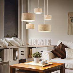 Lustre 5 lampes avec abats jours Ideal lux Ekos 110868 – Lustres avec abats jours chez Luminaires Online