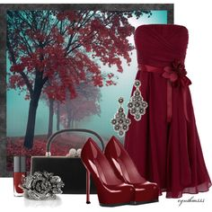 """Lady in Red"" by cynthia335 on Polyvore"
