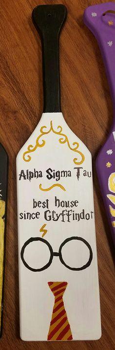 Alpha Sigma Tau. Beta Upsilon. Sorority Paddle