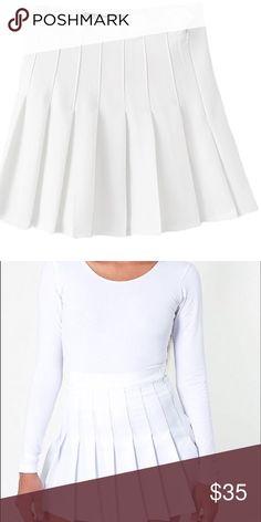 White tennis skirt Adorable white skirt in fantastic condition!! American Apparel Skirts Mini