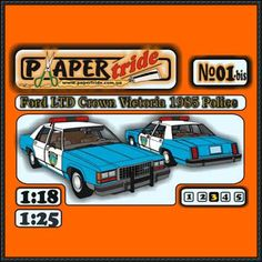 Lincoln Police LTD Ford Crown Victoria Paper Car Free Vehicle Paper Model Download - http://www.papercraftsquare.com/lincoln-police-ltd-ford-crown-victoria-paper-car-free-vehicle-paper-model-download.html