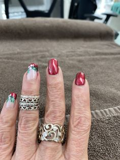Xmas Ideas, Nails, Beauty, Finger Nails, Ongles, Beauty Illustration, Nail, Nail Manicure
