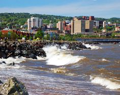 Duluth, MN.  Looks like the ocean, but it's Lake Superior.