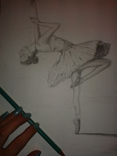#ballerina #pencil #blackwhite #drawing