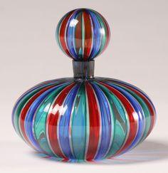 Murano a canne art glass bottle.