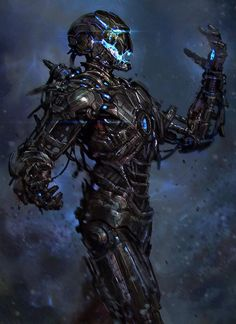 Ultron Mark 1 - Concept Art For Marvel's Avengers: Age Of Ultron. Marvel Art, Marvel Dc Comics, Marvel Heroes, Ultron Marvel, Concept Art World, Robot Concept Art, Cyberpunk, Marvel Villains, Marvel Characters