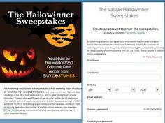 Enter The Valpak Hallowinner Sweepstakes for a chance to win 1 of 6 $250 Costume Cash Gift Codes!