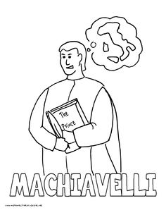 world history coloring pages printables niccolo machiavelli