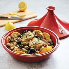 Emile Henry Flame Tagine with Bonus Oil Cruet, available at #surlatable
