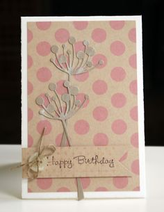 memory box tall choice stem die Birthday Card Versatile Card