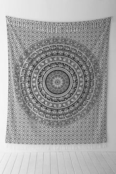 Magical Thinking Floral Elephant Tapestry Urban Outfitters Favorite tapestry great wall decoration for a dorm room Wall Mandala, Mandala Tapestry, Wall Tapestry, Trippy Tapestry, Tapestry Bedroom, College Room, Dorm Room, My New Room, Black White