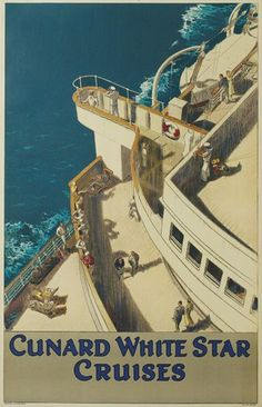 Jarvis, Cunard White Star Cruises.  Circa 1934 #vintage #travel #poster