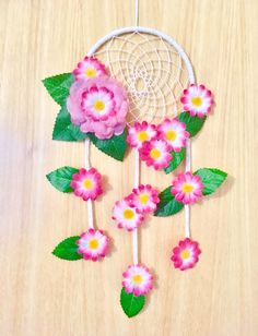 Excited to share the latest addition to my shop: Daisy Dreamcatcher - dream catcher - dreamcatcher - nursery decor - bedroom decor - flowers - baby shower - birthday - gift for her - flower Dream Catcher Nursery, Dream Catcher Craft, Dream Catcher Mobile, Paper Roll Crafts, Craft Stick Crafts, Yarn Crafts, Craft Gifts, Art Cart, Pink Daisy
