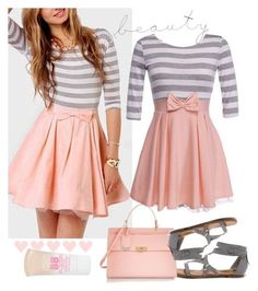 Girly Girl Cute Outfits for School                                                                                                                                                                                 More
