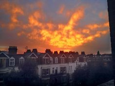 Michael Hadwin's West Hampstead sunset from July 2014