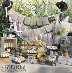 @Carrie Costigliolo  Amazing Dessert Table for Rodeo Party