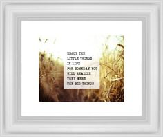 The Little Things Framed Print, White, Classic, None, White, Single piece, 11 x 14 inches, White