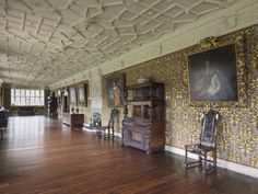 The Long Gallery at Gawthorpe Hall, Lancashire.