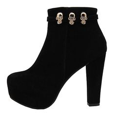 Gloshop Women's High Heels Colorant Match Anti-skidding Bottom Ankle Boots with Metal Buckles *** You can get additional details at the image link.