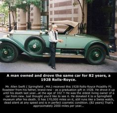 Mr. Allen Swift drove the same car for 82 years!
