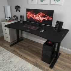 Gaming Computer Desk, Gaming Room Setup, Pc Gaming Table, Gaming Router, Gamer Setup, Computer Shop, Pc Setup, Wifi Router, Gaming Chair