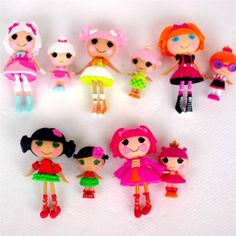 5 Pairs Mini Lalaloopsy Dolls and Lil' Sisters New Design