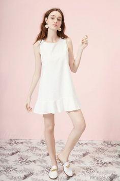 1a02d66a2 vestido de fiesta blanco con volados verano 2017 la coquette