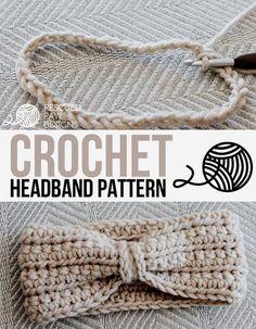 Chained Crochet Headband Earwarmer by Rescued Paw Designs - Chained Crochet Headband Pattern