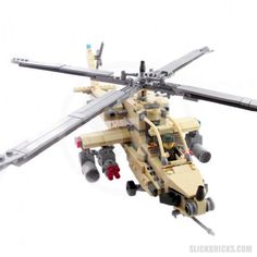 Desert Attack Helicopter - Lego Compatible Toy
